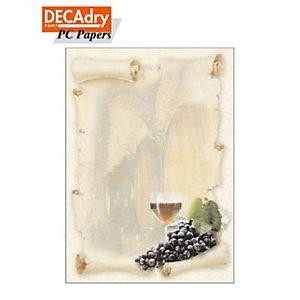 DECAdry Carta a tema A4 per Fotocopiatrici, Stampanti Laser e Inkjet, 90 g/m², Cantina (confezione 20 fogli)