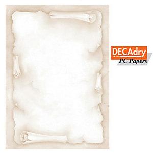 DECAdry Carta a tema A4 per Fotocopiatrici, Stampanti Laser e Inkjet, 90 g/m², Pergamena Classica (confezione 20 fogli)