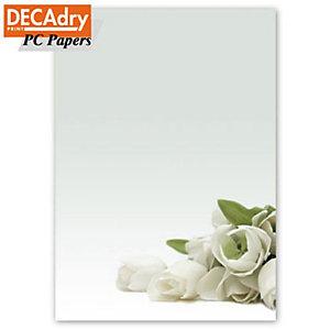 DECAdry Carta a tema A4 per Fotocopiatrici, Stampanti Laser e Inkjet, 90 g/m², Rosa bianca (confezione 20 fogli)