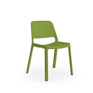 Deco Sedia attesa impilabile, Polipropilene, Verde