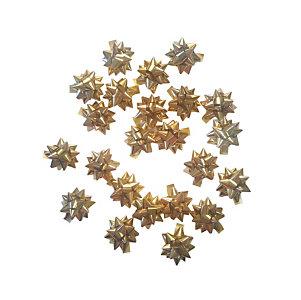 Decorazioni per pacco regalo, Stelline Oro, Dimensioni 14 mm (confezioni 100 pezzi)