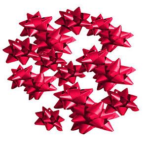 Decorazioni per pacco regalo, Stelline Rosse, Dimensioni 14 mm (confezione 100 pezzi)