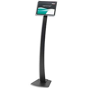 DEFLECTO Panneau d'informations sur pied Contemporary case format A4 Noir L30,5 x H142,6 x P30,4 cm