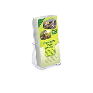 deflecto® Portadepliant da tavolo, 1 scomparto, 11 x 8 x 19,7 cm (1/3 A4), Trasparente