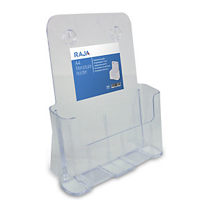deflecto® Portadepliant da tavolo, 1 scomparto, 23,3 x 9,3 x 27,5 cm (A4), Trasparente