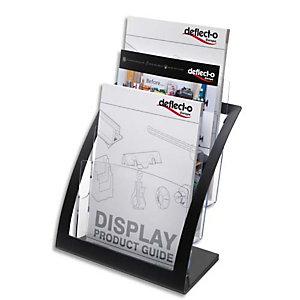 DEFLECTO Porte-brochures 3 compart. A4 Contemporary + porte cartes A4 L28,9xH34,9xP15,6 cm transparent