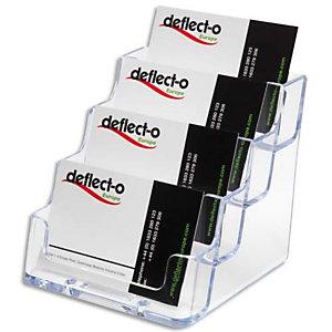 DEFLECTO Porte cartes visite 1x4 compartiment transparent 9.8X8.9X10.5cm