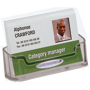 deflecto® Présentoir de table  - 1 case -  Format carte de visite