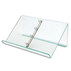 DEFLECTO Pupitre de table avec anneaux amovibles - Dimensions : L50 x H11,5 x P3,5 cm transparent
