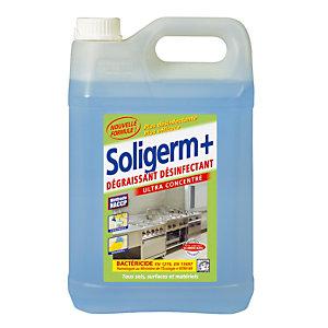 Dégraissant désinfectant alimentaire HACCP Soligerm+ de Solipro 5 L