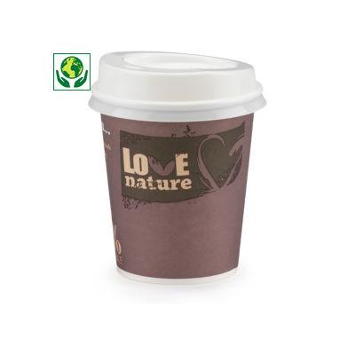 Couvercle CPLA pour gobelet carton##Deksel in CPLA voor drinkbeker in karton