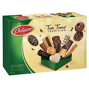 DELACRE Boîte biscuits secs Tea Time - 500 g