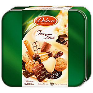 DELACRE Boîte biscuits Tea Time - 1kg