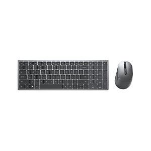 Dell KM7120W, Estándar, RF Wireless + Bluetooth, QZERTY, Gris, Titanio, Ratón incluido KM7120W-GY-SPN