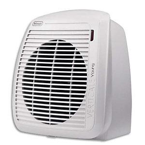 DELONGHI Radiateur soufflant 2000W, thermostat ajustable - Dimensions : L23,8 x H25,4 x P17,7 cm Blanc