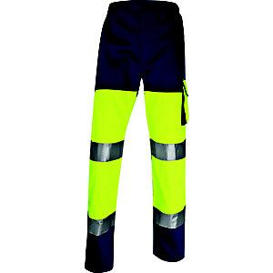 DELTA PLUS Pantaloni da lavoro alta visibilità PHPA2, Giallo, Taglia L