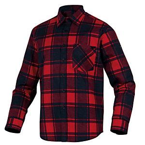 DELTAPLUS Camicia da lavoro Ruby - in flanella di cotone - tg. L - rosso / nero - Deltaplus
