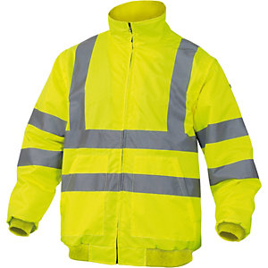 DELTAPLUS Giubbotto alta visibilitA' Reno HV - poliestere/poliuretano - taglia L - giallo fluo - Deltaplus