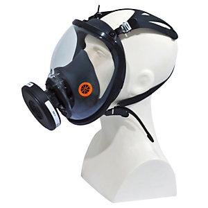 DELTAPLUS Maschera completa M9300 Strap Galaxy - policarbonato/silicone - nero/arancio - Deltaplus