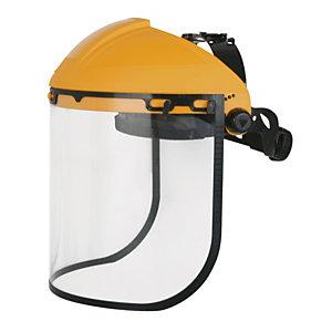 DELTAPLUS Porta visiera con protezione frontale + Visiera Balbi 2 - 39x20 cm - giallo - Deltaplus