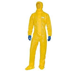 DELTAPLUS Tuta di protezione con cappuccio Deltachem - taglia M - giallo - Deltaplus
