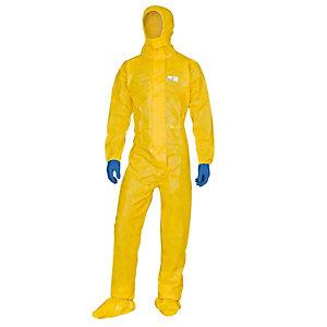 DELTAPLUS Tuta di protezione con cappuccio Deltachem - taglia XL - giallo - Deltaplus