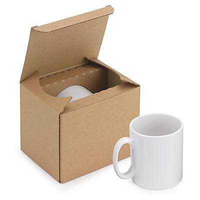 Deluxe crash-lock postal mug box
