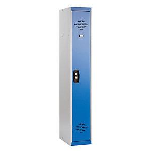 Demonteerbare kleerkasten Advantage Lichte industrie grijs/blauw basiselement