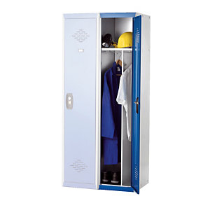 Demonteerbare kleerkasten Advantage Zware industrie grijs/blauw basiselement