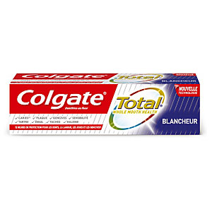 Dentifrice Colgate Total blancheur, tube de 75 ml