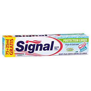 Dentifrice Signal Protection caries, tube de 75 ml + 25 ml GRATUIT