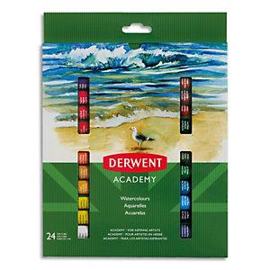 Derwent Academy Set de 24 tubes 12ml de peinture de gouache aquarelle assortie