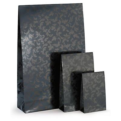 Déstockage : Pochette cadeau noire à fermeture adhésive##Uitverkoop: zwart geschenkzakje met zelfklevende sluiting