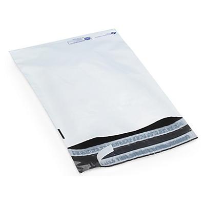 """Déstockage Pochette plastique opaque avec fermeture """"aller-retour"""" 80 % recyclé##Uitverkoop Ondoorzichtige plastic envelop met retoursluiting 80% gerecycleerd"""