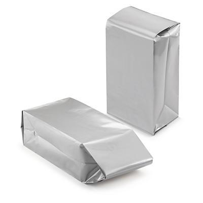 Déstockage : Pochette plastique opaque à trois soufflets Argent##Uitverkoop: Zilveren plastic envelop voor omvangrijke producten