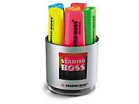 Déstockage : Pot de 6 couleurs assorties Surligneurs Stabilo Boss##Uitverkoop: Stabilo Boss set van 6 kleuren
