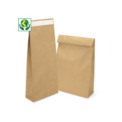 Déstockage : Sac papier kraft haute résistance avec fermeture adhésive##Uitverkoop: Papieren zak hoogresistente kwaliteit met zelfklevende sluiting
