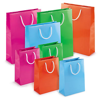 Déstockage : Sac pelliculé Flashy##Uitverkoop: Flashy lakpapieren draagtas