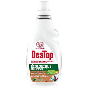 Destop Entretien canalisations écologique, parfum eucalyptus, Flacon 750 ml