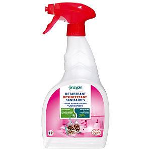 Détartrant désinfectant sanitaires écologique Enzypin fleuri, vaporisateur de 750 ml