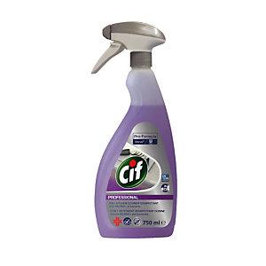 Détergent dégraissant et désinfectant Cif Professional 2 en 1 cuisine, vaporisateur 750 ml
