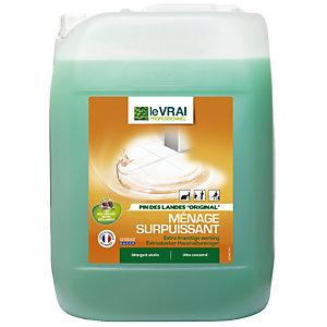 Détergent parfumé HACCP Le Vrai Ménage sols Pin des Landes 20 L