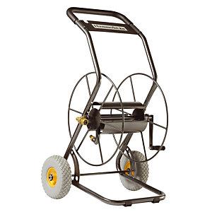 Dévidoir 2 roues professionnel pour tuyau d'arrosage 85 m.