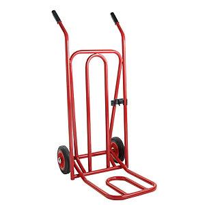 Diables à bavette repliable rouge charge 300 kg