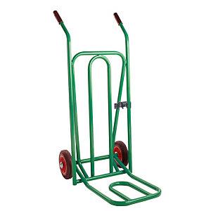 Diables à bavette repliable vert charge 300 kg
