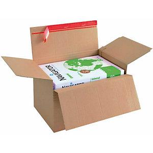 DINKHAUSER 20 Cartons ajustables avec fermeture auto-adhésive, 1 cannelure, A5+