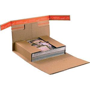 DINKHAUSER 20 Emballages d'expédition avec languette de securité, brun, 250x185x80mm (B5)