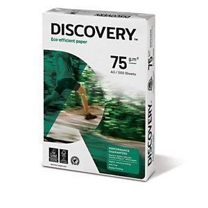 Discovery Carta multiuso A3 per Fax, Fotocopiatrici, Stampanti Laser e Inkjet, 75 g/m², Bianco