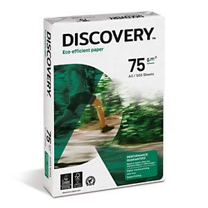 Discovery Papel Multifunción para Faxes, Fotocopiadoras, Impresoras Láser e Impresoras de Inyección de Tinta Blanco A3 75 g/m² 500 hojas