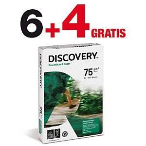 Discovery Papel Multifunción para Faxes, Fotocopiadoras, Impresoras Láser e Impresoras de Inyección de Tinta Blanco A4 75 g/m²